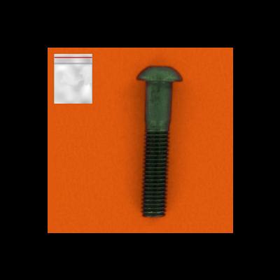 Zakjes met 25 bolkop binnenzeskant Zwart staal 10.9