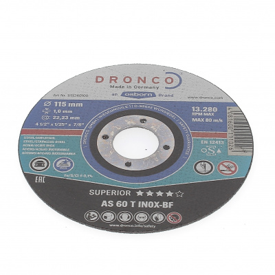 DISQUE A TRONCONNER PLAT 115X1.0X22.2 AS60T INOX 1111-240.100
