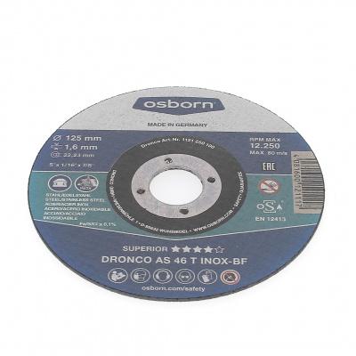 DISQUE A TRONCONNER PLAT 125X1.6X22.2  AS46 T INOX 1121-250.100