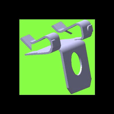 Agrafe Support Tube 90° - Cable Clip Adapters 90°