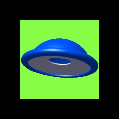 Bouchon D'Arrêt Pour Tige - Push On Fix Circular Capped