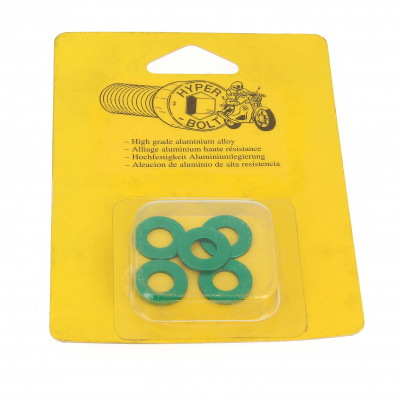 Blister met 5 Ringen serie M AG3 OA groen