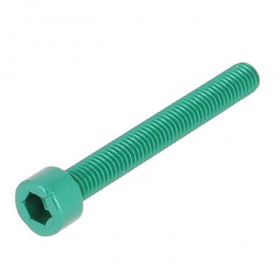 Blister met 5 cilindrische kop binnenzeskant Alu P60 OA groen